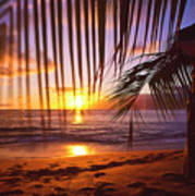 Napili Bay Sunset Maui Hawaii Art Print