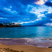 Napili Bay Sunset Panorama Art Print