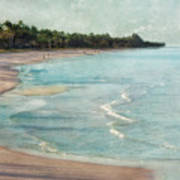 Naples Beach Art Print