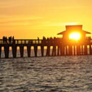 Naples Florida Sunset Pier Art Print