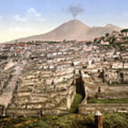 Naples: Mt. Vesuvius Art Print