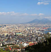 Naples Panoramic View Print by Kiril Stanchev