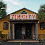 Naples Tin City - Open For Business Art Print