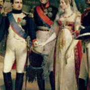Napoleon Bonaparte Receiving Queen Louisa Of Prussia Art Print