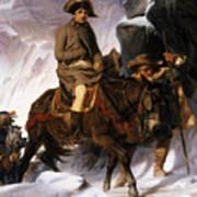Napoleon Crossing The Alps Art Print