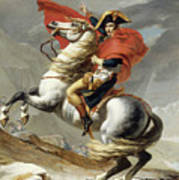 Napoleon Crossing The Alps, Jacques Louis David, From The Original Version Of This Painting  Art Print