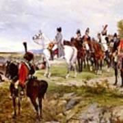 Napoleon Watching The Battle Of Friedland Art Print