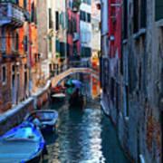 Narrow Canal View Venice Art Print