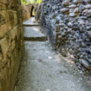 Narrow Mayan Road Art Print