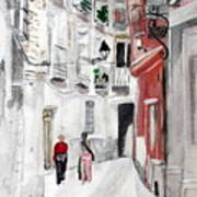 Narrow Street Art Print