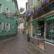 Narrow Street In Freiburg Art Print