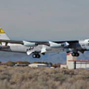 Nasa Boeing Nb-52b Stratofortress With Hyper X Print by Brian Lockett