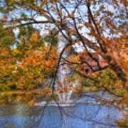 Nashua River Water Fountain - Nashua Nh Art Print