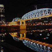 Nashville Bridge Art Print
