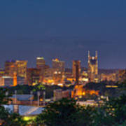 Nashville By Night 2 Art Print by Douglas Barnett