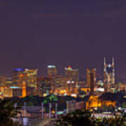 Nashville By Night 3 Print by Douglas Barnett