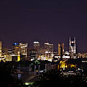 Nashville Cityscape 4 Art Print