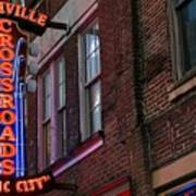 Nashville Crossroads Music City  Art Print