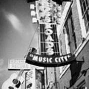 nashville crossroads music city ernest tubbs record shop on broadway downtown Nashville Tennessee US Art Print