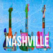 Nashville Guitars Art Print