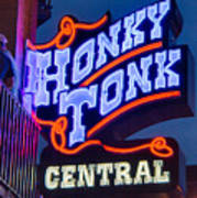 Nashville Honky Tonk Central Art Print