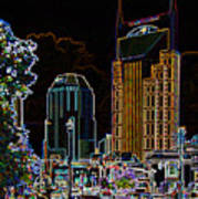 Nashville In Neon Art Print