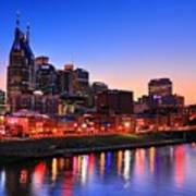 Nashville Southern Nights Art Print