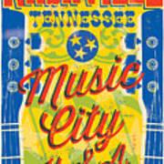 Nashville Tennessee Poster Art Print