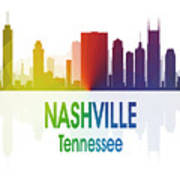 Nashville Tn 1 Vertical Art Print