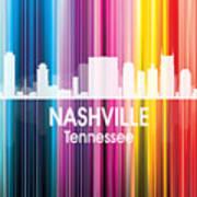 Nashville Tn 2 Squared Art Print