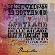 Nashville Tn V1 Art Print