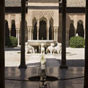 Nasrid Palaces Alhambra Granada Spain Europe Art Print