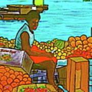 Nassau Fruit Seller At Waterside Art Print