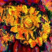 Natalie Holland Sunflowers Art Print