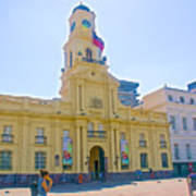 National History Museum On Plaza De Armas In Santiago-chile Art Print