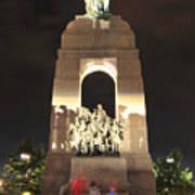 National War Memorial At Night Art Print