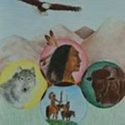 Native American Circle Of Life Print by Jessica Hallberg