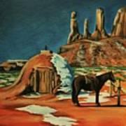 Native American Hogan Art Print