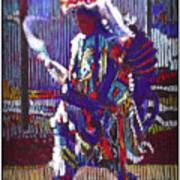 Native American - Male Fancy Dancer #4 Art Print