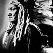 Native American Sioux Chief Sitting Art Print by Everett