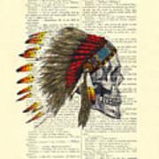 Native American Skull Art Print