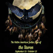 Native American Zodiac Sign Of The Raven Art Print