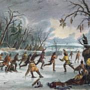 Native Americans: Ball Play, 1855 Art Print