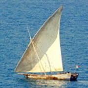 Native Sail Boat Art Print