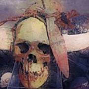 Native Skull  Art Print