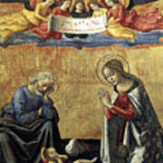 Nativity By Domenico Ghirlandaio Art Print