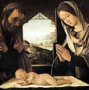 Nativity By Lorenzo Costa Art Print