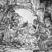Nativity Art Print by Rembrandt