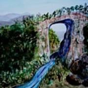 Natural Bridge In Virginia Art Print