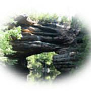 Natural Rock Bridge Looking Toward The Dam   Art Print